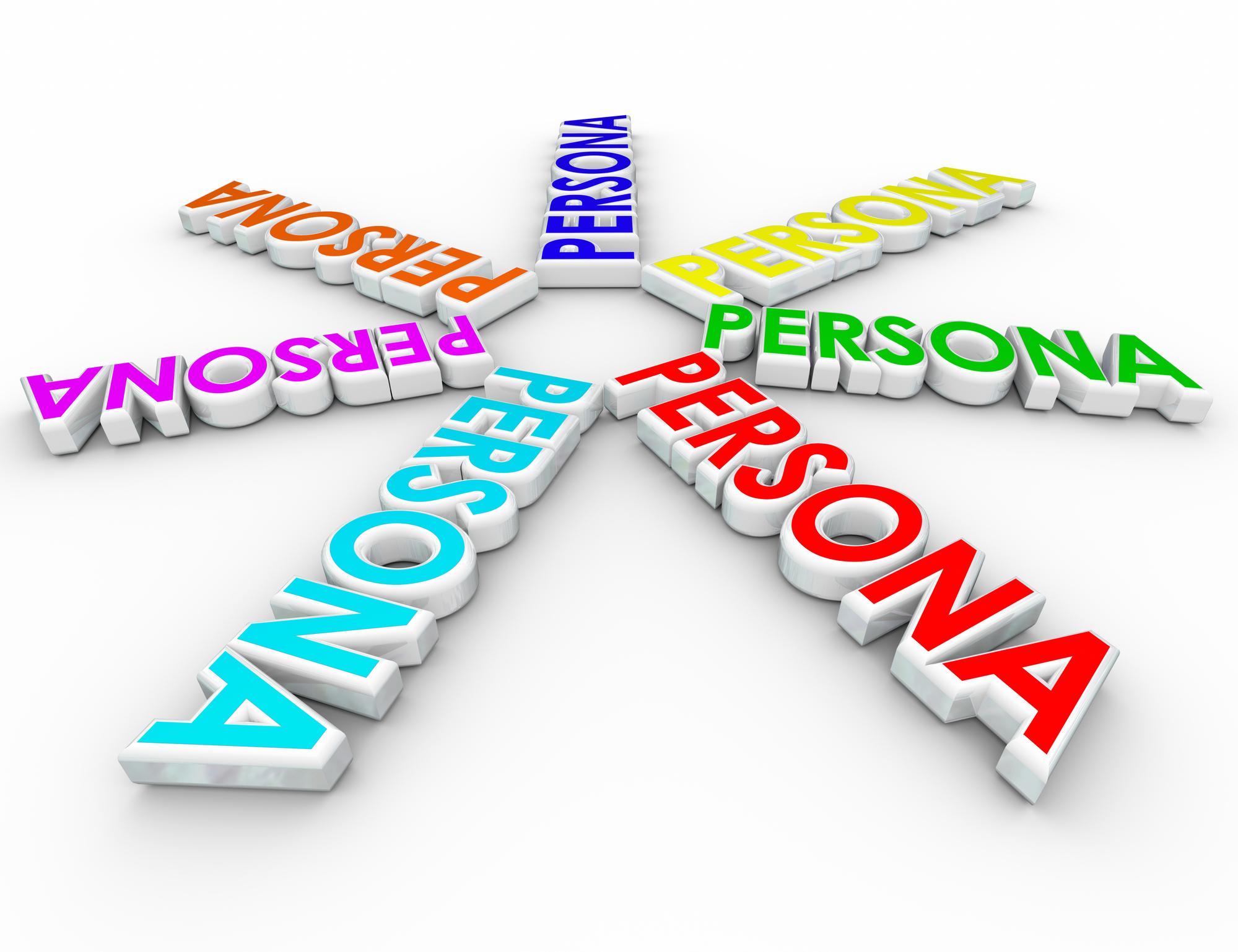Word Persona in a spoke-wheel pattern