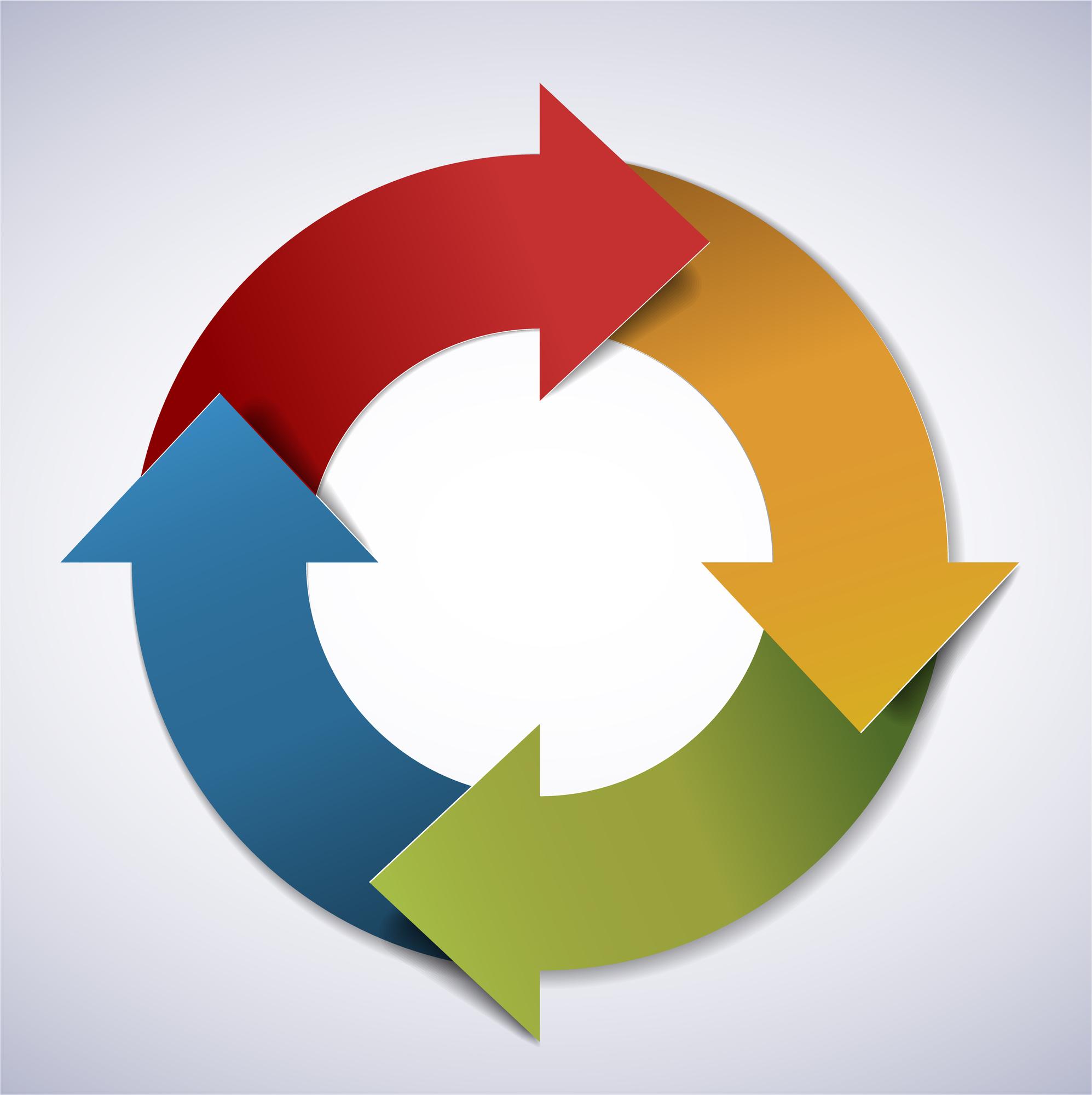 Vector life cycle diagram